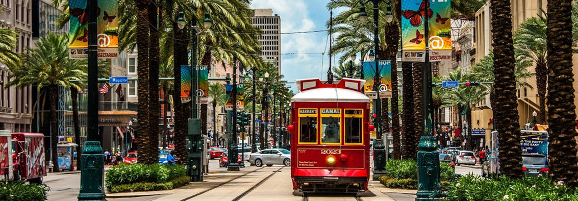 New Orleans Canal Street Trolley