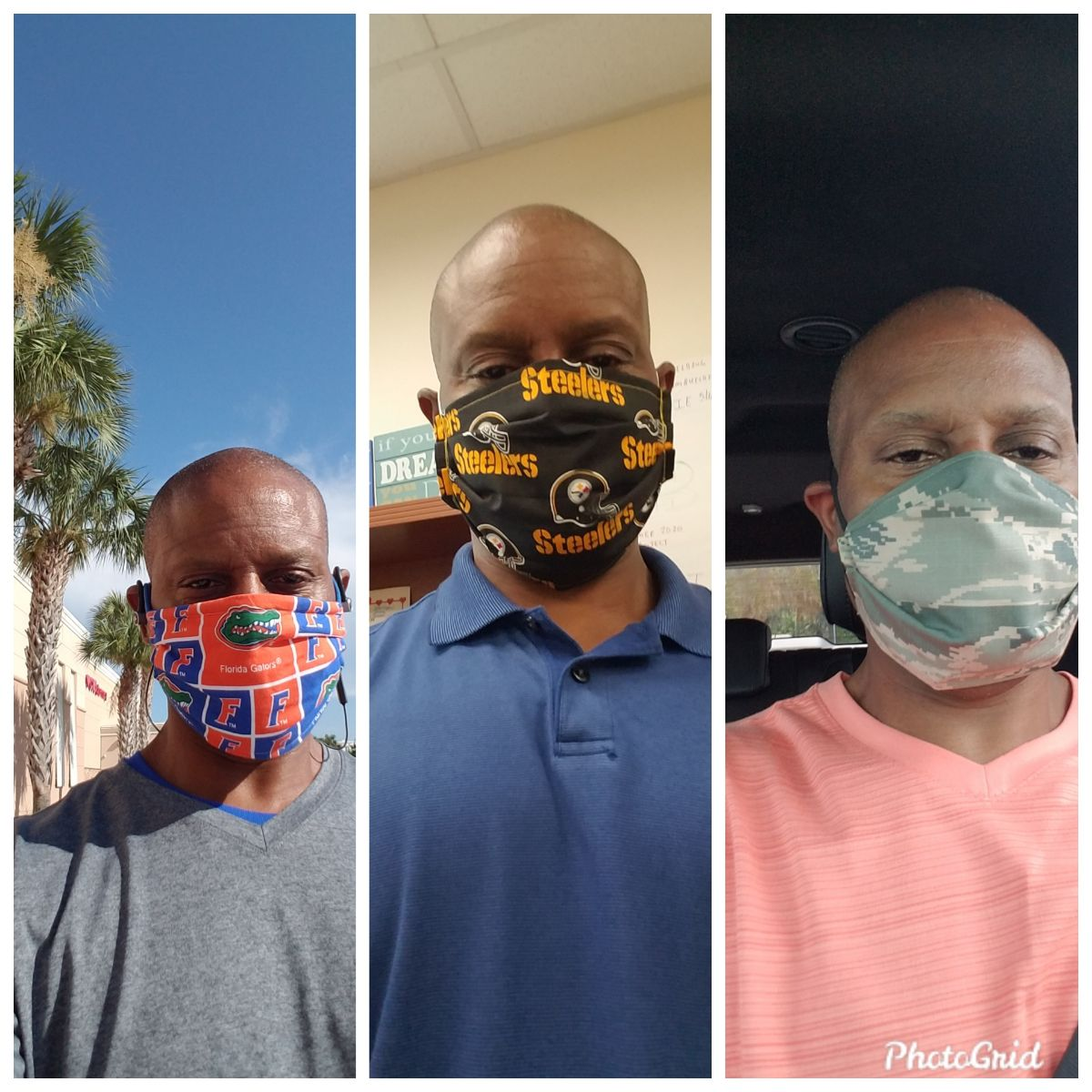 Walking with a facemask